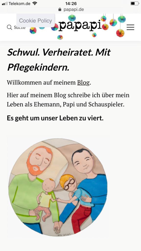 Elternblog, Papablog mit Pflegekind
