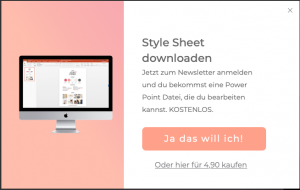 Wordpress Trends: Pop-Ups für den Newsletter