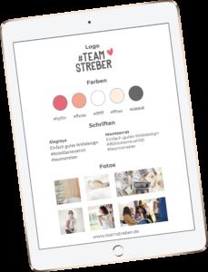 Style Sheet Team Streber |Kostenlose Power Point Vorlage zur Markenbildung |Free Printable Brandbuilding