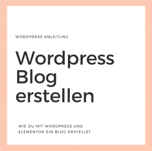 WordPress Homepage erstellen