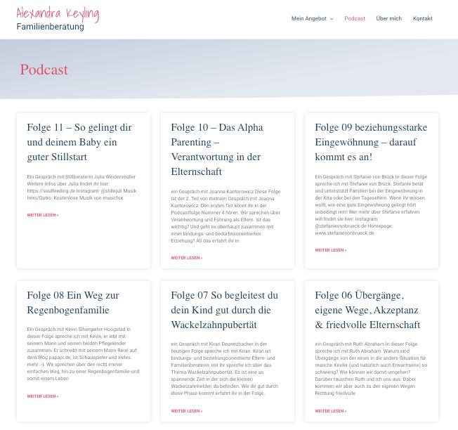 Alexandra Keyling - Webseite für Coaches