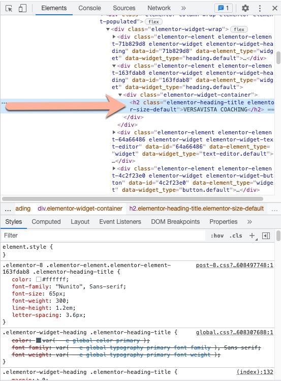 Schriftart im Browser herausfinden Safari