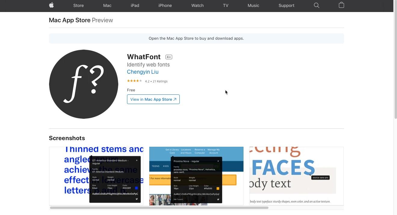 Safar-Browser-Erweiterung-What-Font