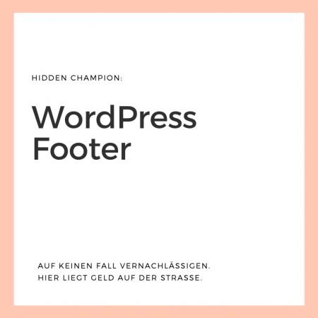 WordPress Footer für Conversion nutzen