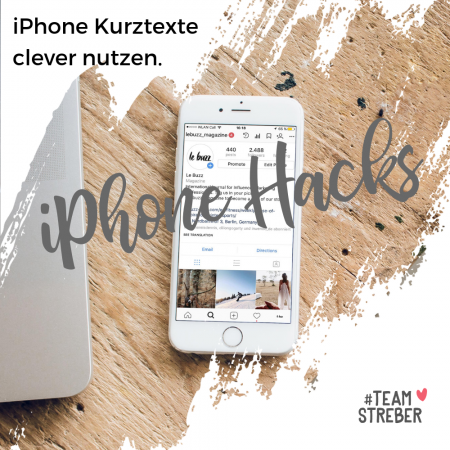 iPhone Kurztexte, Textersetzung iPhone, iPhone Kurztexte